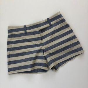 Ann Taylor Stripped Blue And White Casual Shorts 4